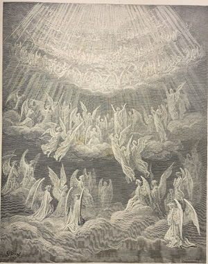 "Dore's illustration of the ""Heavenly Host"" in Dante's Paradisio."