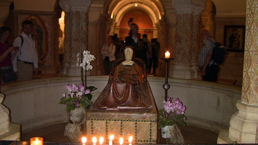 "The Abbey of the Dormition in Jerusalem—the site where tradition states St. Mary ""fell asleep"" into death."